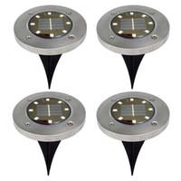 BRELONG 8LED 태양은 조명 야외 잔디 램프 4PCS 매장