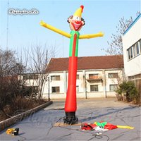 Rolig annonsering Uppblåsbara Clown Jumper 6m Air Sky Dancer Blow Up Tube Man Bouncer för Circus Event