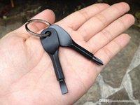 Sıcak satış Tornavidalar Anahtarlık Açık Pocket Mini Tornavida Seti Anahtarlık ile Oluklu Phillips El Anahtar Kolye