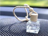 10ML висит автомобиль парфюмерные бутылки автомобильные подвески аксессуары бутылка пустые квадратные стеклянные бутылки косметические духи упаковочные бутылки оптом 5