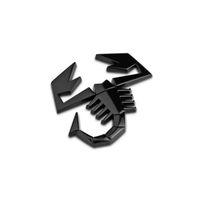 سبائك جديد 3D العقرب درع الشكل شارة ملصق سيارة الباب الخلفي الشعار الخلفي للFIAT ABARTH TC Boano سيمكا berlinetta من الفا روميو