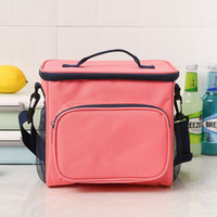 Mittagessen Taschen Doppelte Isolierung Lunchbox Leinwand Lebensmittel Picknick-Beutel Cooler Lunch Box Portable Cooler Tote 4 Farben Großhandel WZW-YW3895