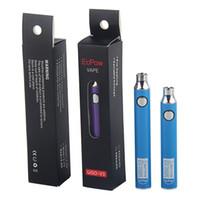 Hot Vaporizzatore UGO V3 Penna EcPow Preriscaldamento VV Vape Penna Batteria Volt regolabile 100% Originale Facotry Vendita Vieni con cavo di ricarica Micro USB
