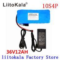 LiitoKala 36V 12AH bici elettrica della batteria Costruito in 20A BMS litio pacco batteria da 36 Volt con 2A carica Ebike Batteria