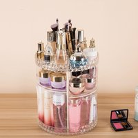 DIY 360 Degre Rotatable Acrylic Cosmetic Storage Box Transpa...