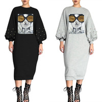 Vestidos de una pieza de una pieza de manga larga Falda de verano Diseñador Mid-becerro Alta Calidad Vestido flaco elegante Club de lujo KLW1684