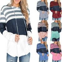 Frühling und Herbst Designer Hoodies für Frauen Sweatshirts mit gestreiftem Muster Mode Marke Frauen Hoodies Luxus Kleidung S-2XL Optional