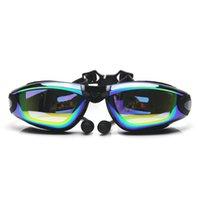 Fanceey antiniebla Uv Gafas para la piscina de natación para adultos electrochapa vidrios de los anteojos Gafas óptico Hombres Mujeres
