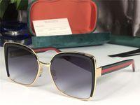 Neue Frauen Luxus-Designer-Sonnenbrille-Kreis Vintage Round Up Sonnenbrille Frauen Männer Punk Style Metallrahmen Black Sun Glasses männlich 0035 Flip