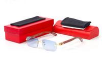 новая мода спортивные солнцезащитные очки для женщин мужчин деревянные очки без оправы бамбук старинные ретро солнцезащитные очки рог буйвола золото серебро рамка люнеты
