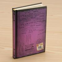 VIOLET - Cahier de carnet de croquis journal rétro carnet vintage journal couverture épaisse vierge