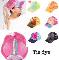 At Kuyruğu Beyzbol Şapkası 7 Renk Unisex Dağınık Bun Şapka Batik Snapbacks Casual Güneşlik Açık Hat Batik Topu Caps CCA12272 30pcs