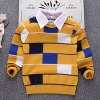 good quality Turn Down Collar Girls Sweaters Boys Clothing S...