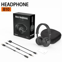 Portable B10 Music Bluetooth Wireless Headphones with Mic Hifi Surround Sound Noise Canceling Earphones For Phone PC Tablet In Retail Box