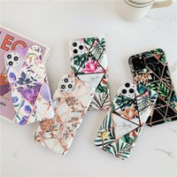 Popular Luxury IMD Marble Flower Geometric Shockproof Soft T...