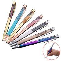 تعزيز بالجملة ألوان مختلفة كريستال الماس حبر القلم الرول أقلام للكتابة هدايا عيد الميلاد 0479