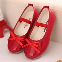 2018 Girls Bow Princess Shoes Party Dress Kid Flat Heels Sho...