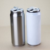 DIY Sublimation tumbler 15oz Cola Cans with 2 Types Lids 450...