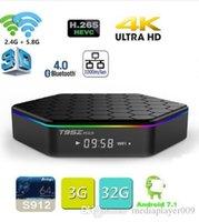T95Z Artı Smart TV BOX 2GB / 16GB 3 GB / 32GB Amlogic S912 Octa Çekirdek Android 7.1 TVBox 2,4 GHz / 5 GHz WiFi BT4.0