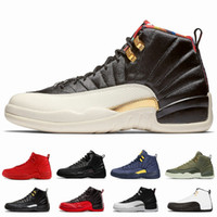12 CNY 2019 Winterized Wntr Gym Red Michigan Scarpe da basket da uomo Sneakers Designer 12s Taxi Flu Gioco UNC Bakset Ball Sport Trainer