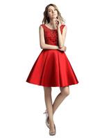 Tanie prawdziwy projektant nad długością kolana krótkie sukienki balu moda sheer zroszony przylądek rękawy formalne wieczorowe homcoming party suknie nosić lx439