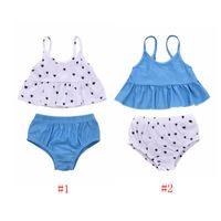 أطفال ملابس السباحة الطفل بنات الحمالة الحب القلب ملابس الصيف كشكش أعلى pp السراويل الدعاوى قطعتين الأطفال أزياء بحر py482