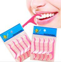 Venta al por mayor de plástico dental palillo de dientes algodón hilo dental palillo de dientes Vara para la tabla de Salud Oral de cocina accesorios de la barra de herramientas OppBag Paquete