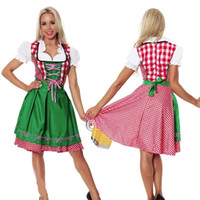 5 Pz / lotto Costumi di Halloween Per Le Donne Oktoberfest Costume Octoberfest Maid Costume Party Femminile Oktoberfest Dress Beer Costume