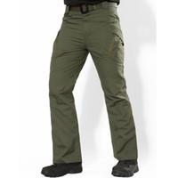 IX9 Pantalon Hommes Ville Casual Tactique Camouflage Combat Cargo Pants Armée Hommes Multi Poche Stretch Pantalon Flexible