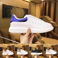 bb90f11664 Diseñador de lujo 3M reflectante blanco negro de cuero zapatos casuales  para mujeres mujeres hombres oro