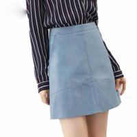 2019 Winter High Waist Skrit Pu Faux Leather Women Skirt Pin...
