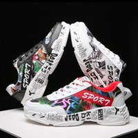 Cartoon Doodle Male Leisure Footwear Black White Red Fashion...
