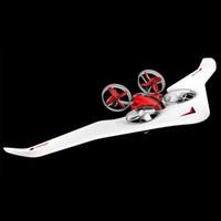 DIY 3 in einem RC-Flugzeug-Spielzeug, Segelflugzeug, Quadcopter-Drohne, Partybedarf, Luftkissenfahrzeug, drei Moden von Meer, Land und Luft, coolen Drift, Weihnachtskind-Geburtstagsgeschenke, 2-1