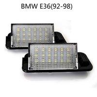 Автомобильные светодиодные лампы номерного знака для BMW E36 (92-98) цена по прейскуранту завода-изготовителя Led number plate light 12V 6000K