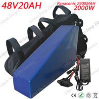 عالية الجودة 2000 واط 48 فولت 20AH بطارية الدراجة الكهربائية 48 فولت 20AH مثلث بطارية ليثيوم استخدام باناسونيك 2900 مللي أمبير خلية 30a bms حقيبة مجانية