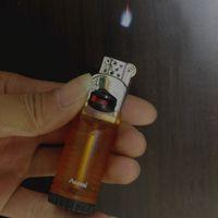 Творческий Факел Плавающий Огонь Flint Lighter шлифовального круга Free Fire бутан зажигалка Надувные сигары прикуривателя