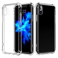 Air Cushion Shockproof Transparent Clear TPU Case For iPhone...