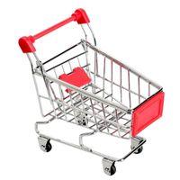 MINI NIÑOS ALMACENAMIENTO Coche Handcart Simulación Pequeño Supermercado Almacenamiento Carrito de compras Carrito de la utilidad Pretend Play Toys Cochecitos
