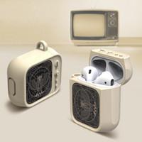 AirPods caso para el medio Auricular Bluetooth retro de la cubierta del estilo a prueba de golpes para AirPods 1/2 de almacenamiento de silicona de moda Caja de 5 colores