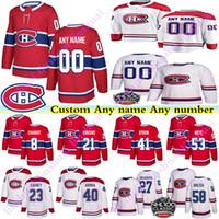 Männer Kinder Montreal Canadiens Jerseys 27 Alex Galschenyuk 53 Victor Mete 41 Paul Byron Noah Jumsen Benutzerdefinierte Name Jede Nummer Hockey Jersey