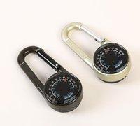 taşınabilir mini açık aracı alet Anahtarlık Metal Halka aracı pusula termometre sıcak Mini hızlı asılı tırmanma toka kanca