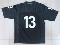 Navio de US Willie Beamen # 13 Jersey de futebol Algum dado domingo tubarões filme homens todos costurados preto S-3XL de alta qualidade