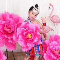 Flores de seda peônia guarda-chuva dança adereços desempenho palco flores artificiais decoração de casamento adereços fase diy home decor falso flores cabeça