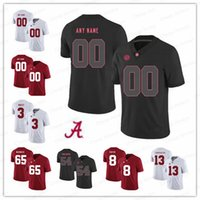 e0f70633326 Custom Alabama Crimson Tide College Football black red white Stitched Any  Name Number 13 Tua Tagovailoa 3 Trent Richardson Jerseys S-3XL