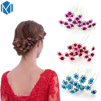 20pcs lot Women Wedding Bridal Flower Hairpins Shiny Crystal...