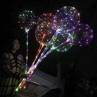 Aydınlık Bobo Balon 20 inç LED Işık Balon Çocuk Oyuncakları Yanıp Sönen Balonlar Doğum Günü Düğün Noel Cadılar Bayramı Partisi Dekorasyon VT0618