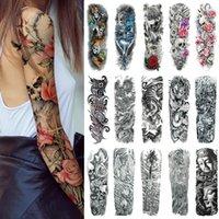 100 foglio grande manica braccio tatuaggio impermeabile loto tatuaggio temporaneo tatuaggio uomini full fiore tatoo body art girl
