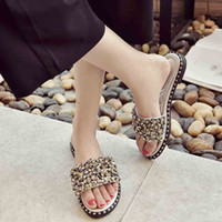 New Hot Open Toe Fashion Flat Anti- slip Slides For Women One...