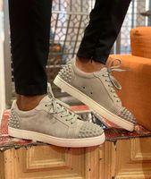 Düşük üst, Kadınlar, Erkekler Lüks Tasarımcı Parti Gelinlik Casual Düz EU35-47 için Seavaste 2 Erkekler Eğitmenler Dikenler Kırmızı Alt Sneakers Ayakkabı