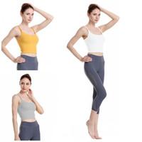 أزياء اليوغا الرافعة الصدرية 4 ألوان الرياضة للياقة البدنية تجريب المحاصيل الأعلى للدبابات سليم السيدات Gymwear قمصان كاميس لملابس الصيف 42yw E19